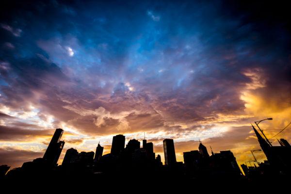 A Grand Cloud Show Over Melbourne