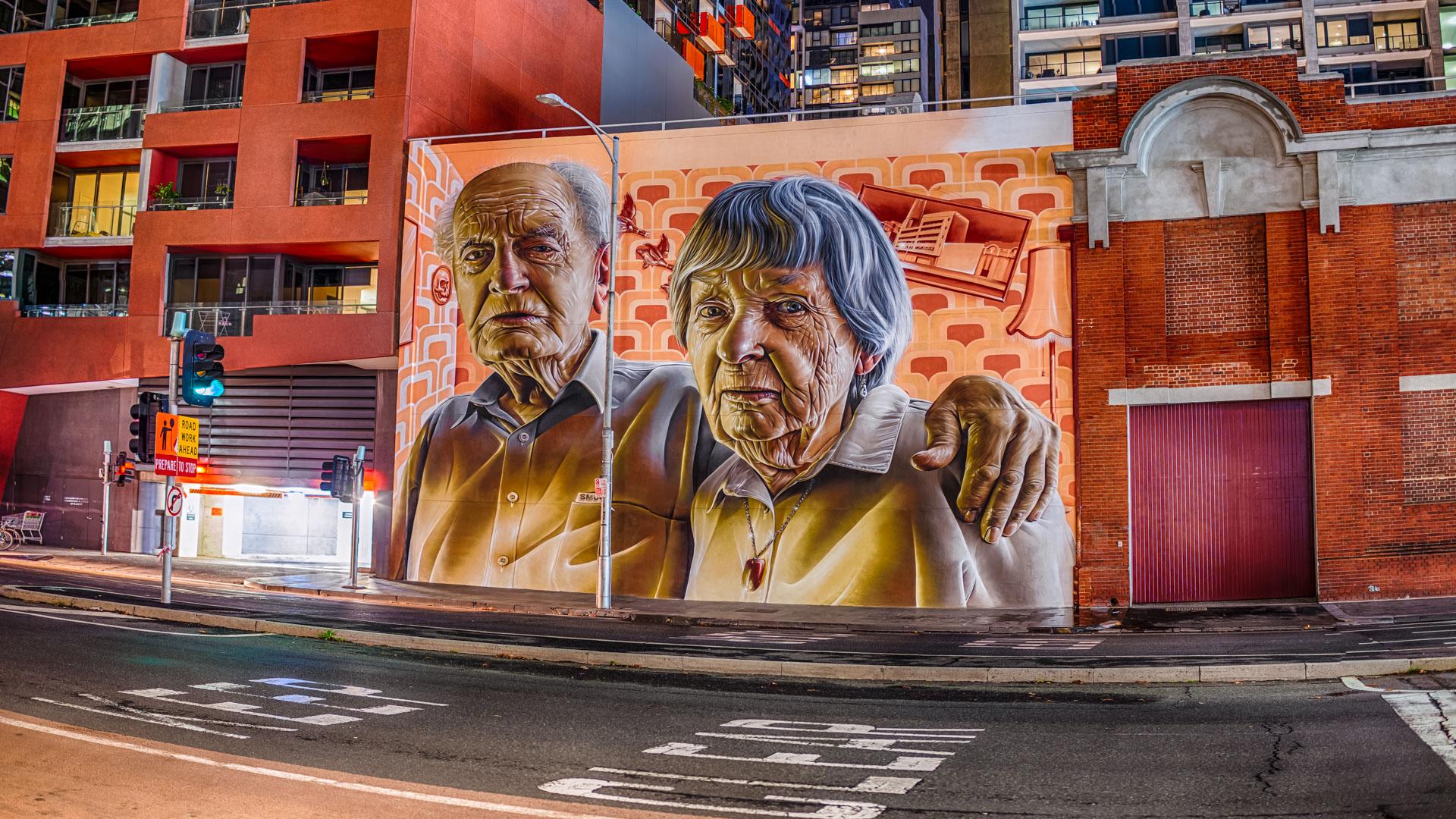 Old Timers, New Town. Smug Melbourne Street Art