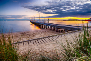 The oh-so-photogenic Lagoon Pier in Port Melbourne at Sunset