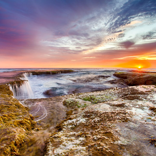 Stunning sunset at Pearses Beach on the Mornington Peninsula