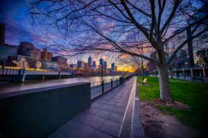 Cool Air and a Warm Sunrise from Southbank