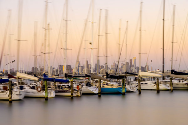 Melbourne at Dusk from Williamstown