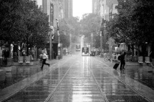 Running in the Melbourne Rain