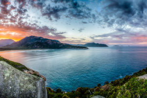Panoramic Sunrise over Tidal River in Wilsons Prom